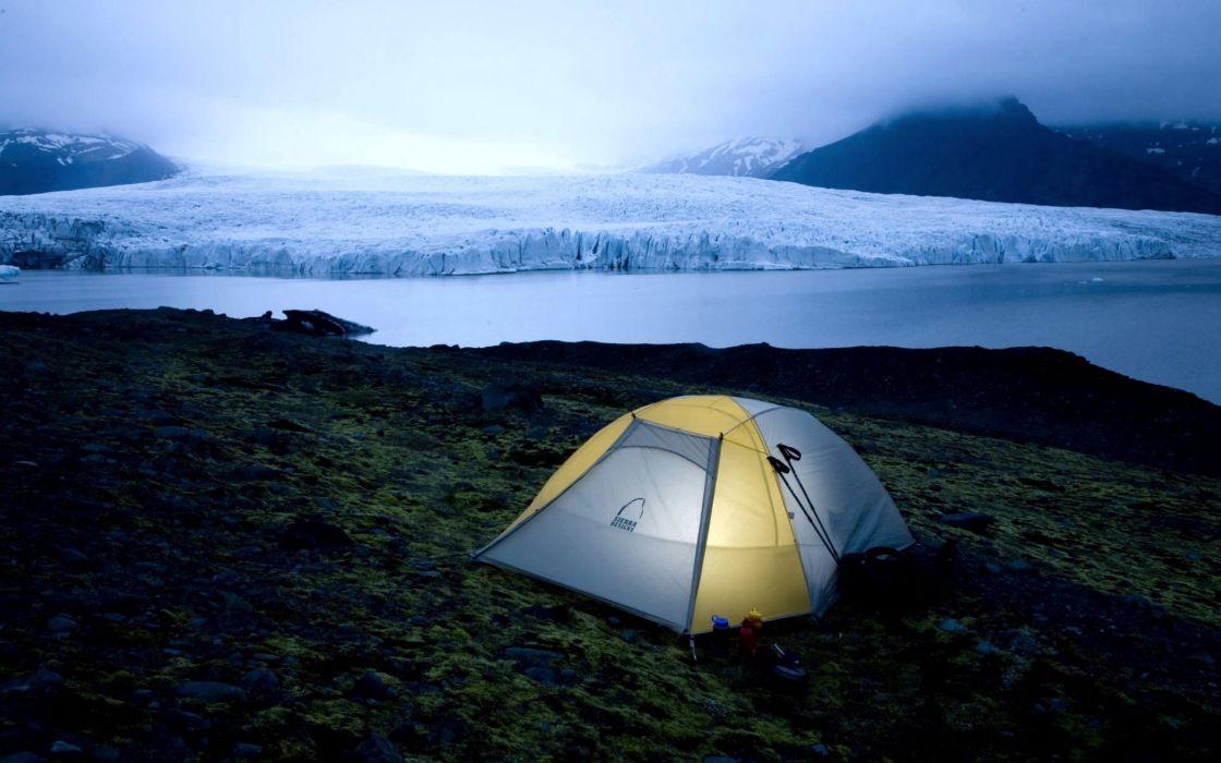 glacier tents wallpaper