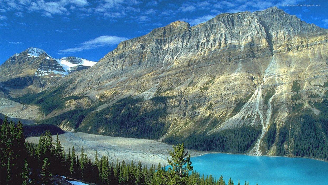 mountains USA lakes wallpaper