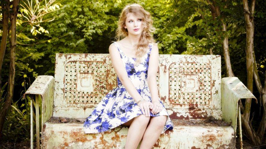 blondes women nature Taylor Swift celebrity bench wallpaper