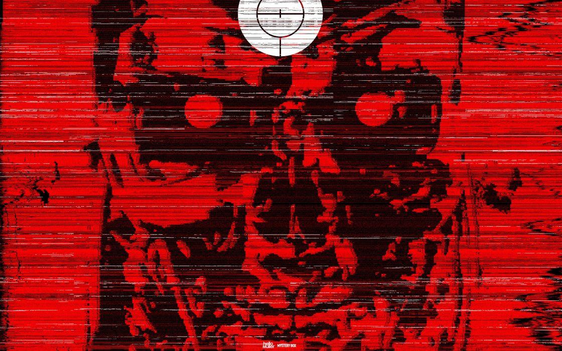 Terminator movies red wallpaper
