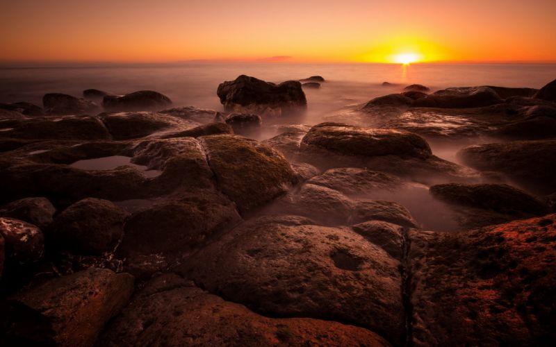 landscapes nature rocks stones sea beaches wallpaper