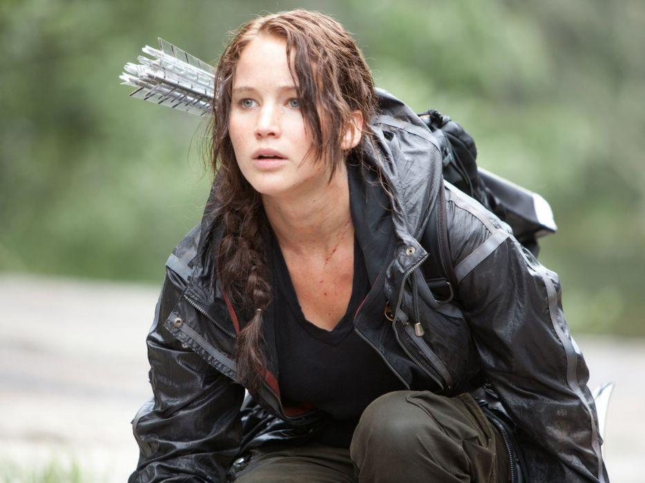 women actress arrows braids Jennifer Lawrence Katniss Everdeen The Hunger Games wallpaper