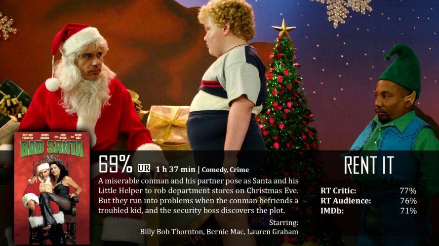 BAD-SANTA comedy christmas bad santa poster f wallpaper