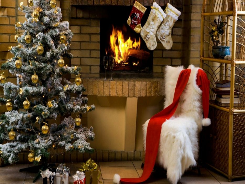 christmas fireplace fire holiday festive decorations    d wallpaper
