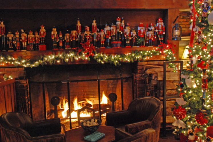 christmas fireplace fire holiday festive decorations g wallpaper