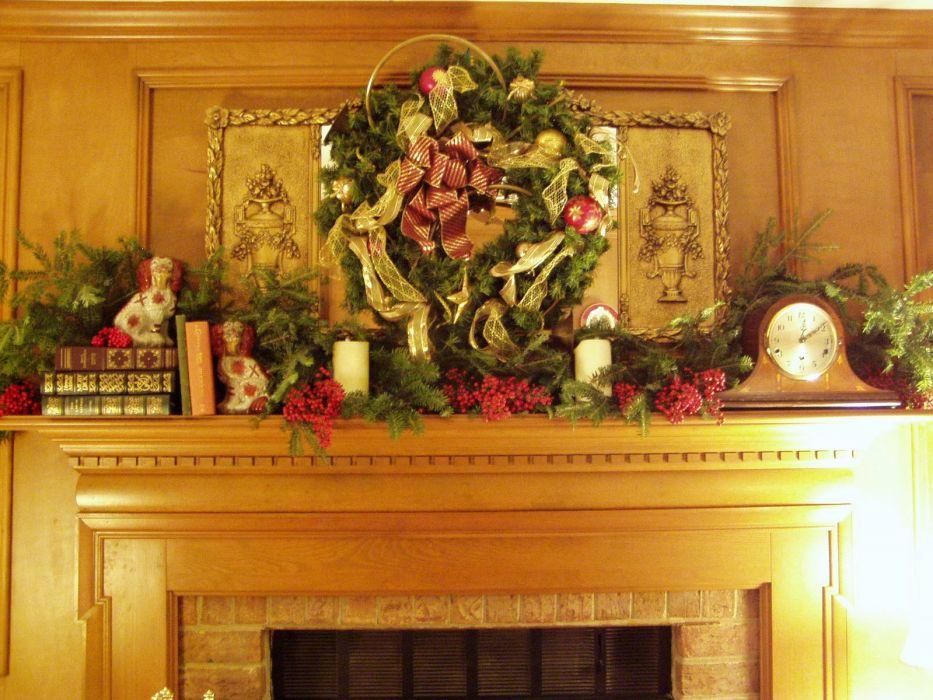 christmas fireplace fire holiday festive decorations   eq_JPG wallpaper