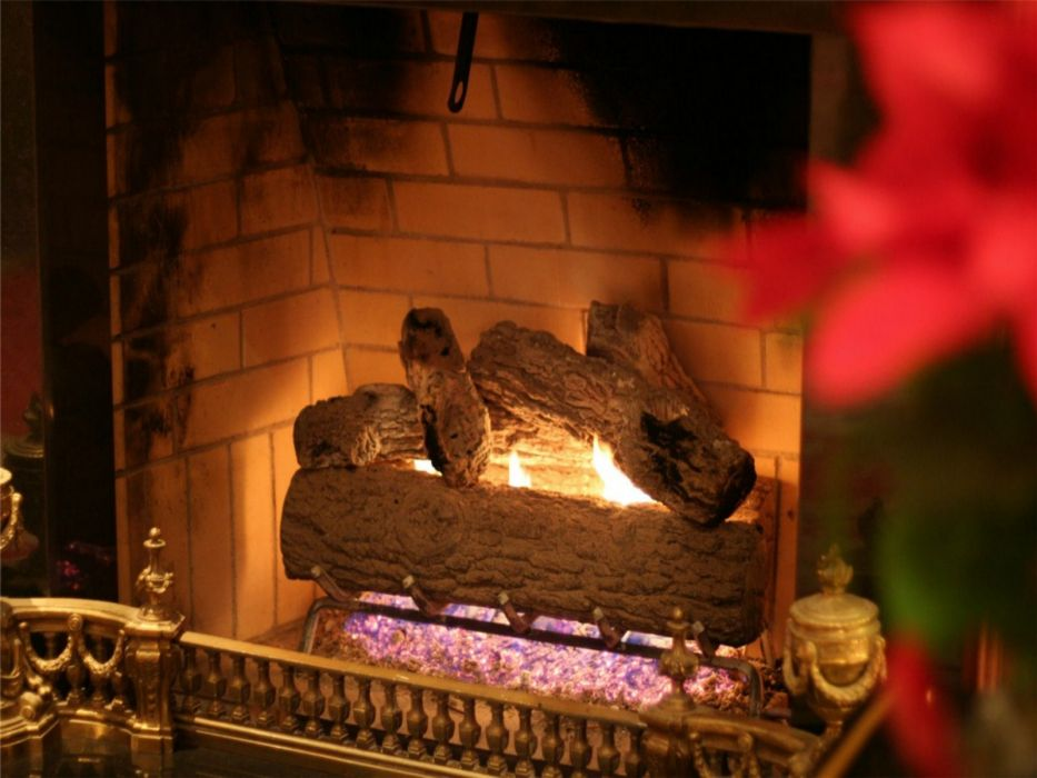 christmas fireplace fire holiday festive decorations   hd wallpaper