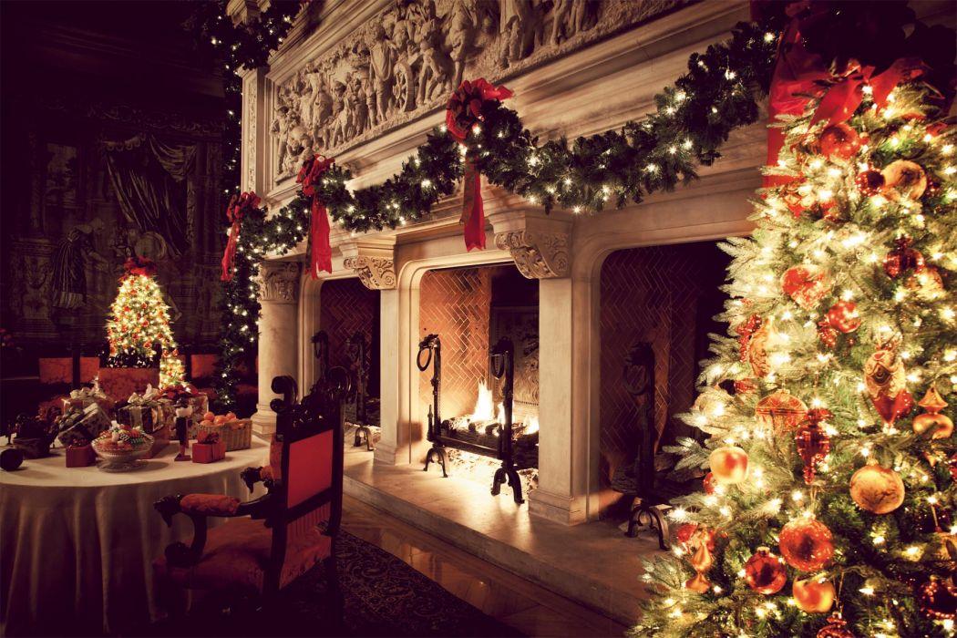 christmas fireplace fire holiday festive decorations   j wallpaper