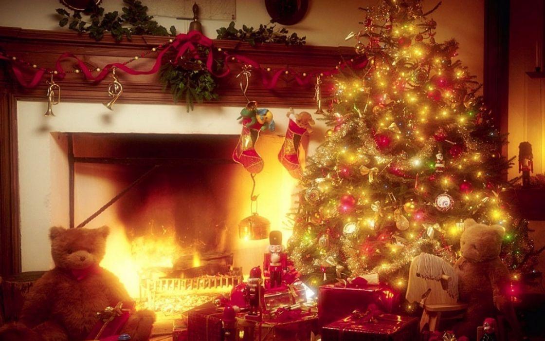 christmas fireplace fire holiday festive decorations  bt wallpaper