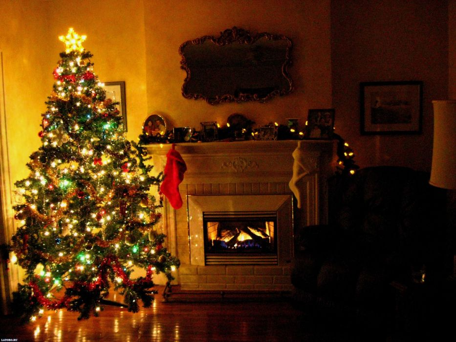 christmas fireplace fire holiday festive decorations  e wallpaper