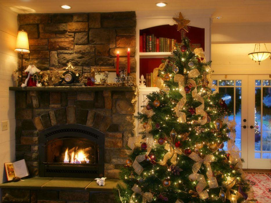 christmas fireplace 1600x1200 wallpaper Wallpaper 2560x1920 www_wall321_com wallpaper