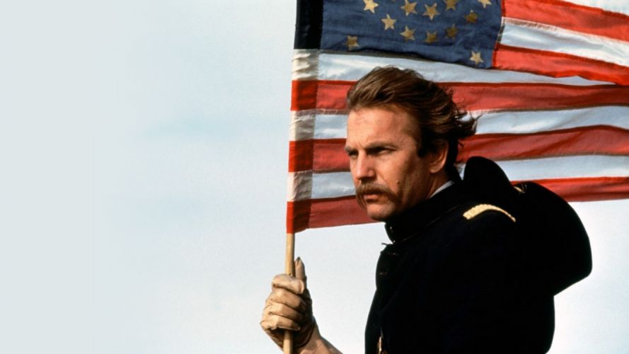 DANCES WITH WOLVES western drama america flag f wallpaper