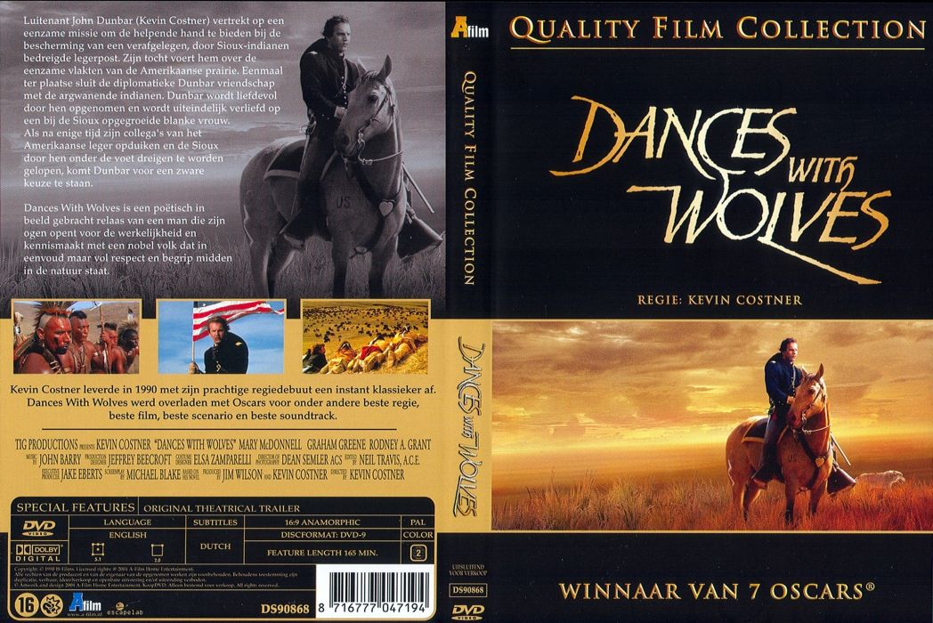 DANCES WITH WOLVES western drama poster     g wallpaper