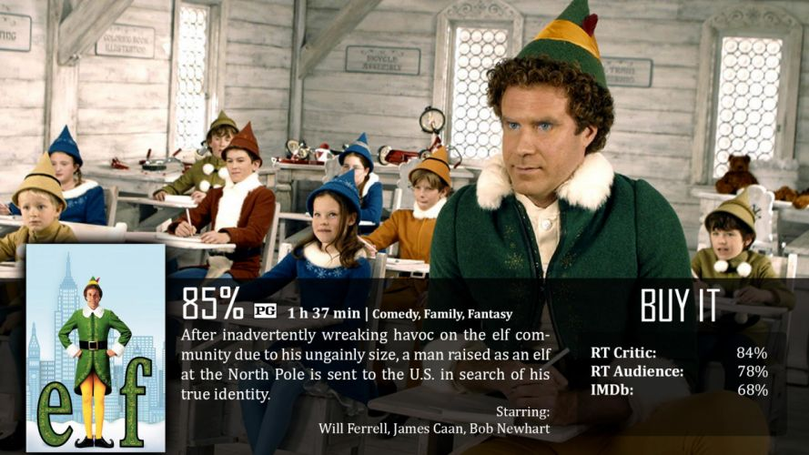 ELF comedy christmas poster f wallpaper