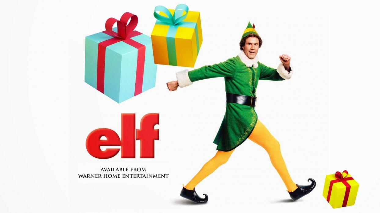 ELF comedy christmas poster   d wallpaper