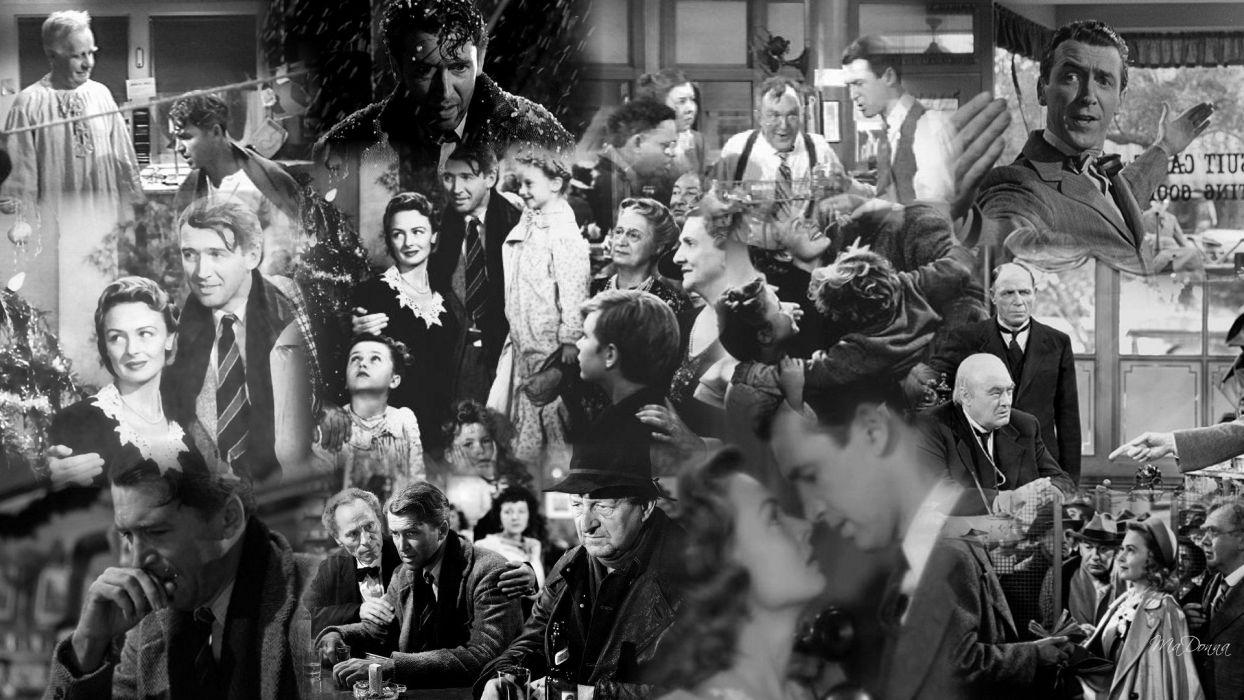 ITS-A-WONDERFUL-LIFE drama christmas holiday classic wonderful life  dd wallpaper