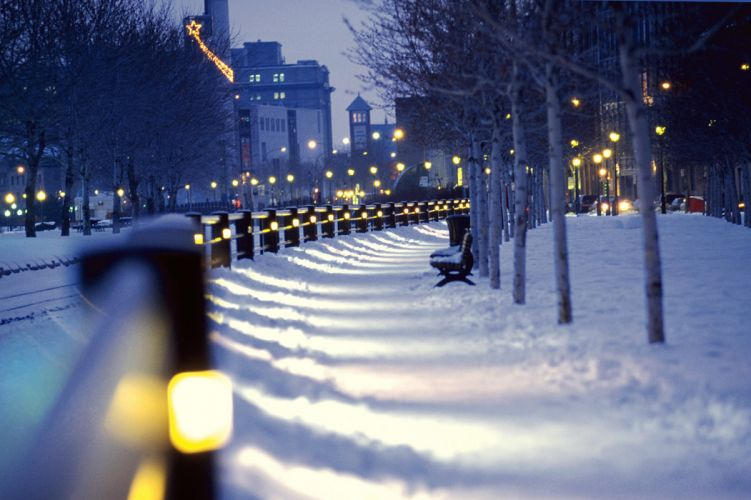 montreal christmas winter snow wallpaper