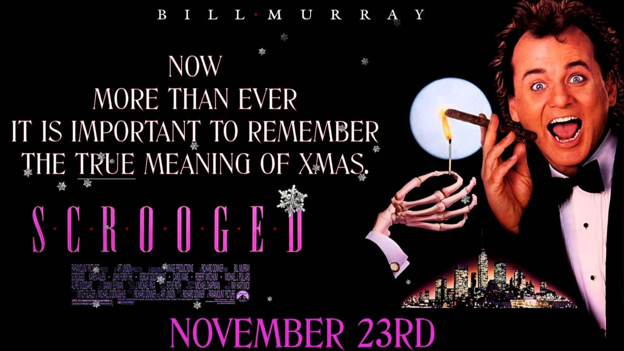 SCROOGED comedy christmas poster    g wallpaper