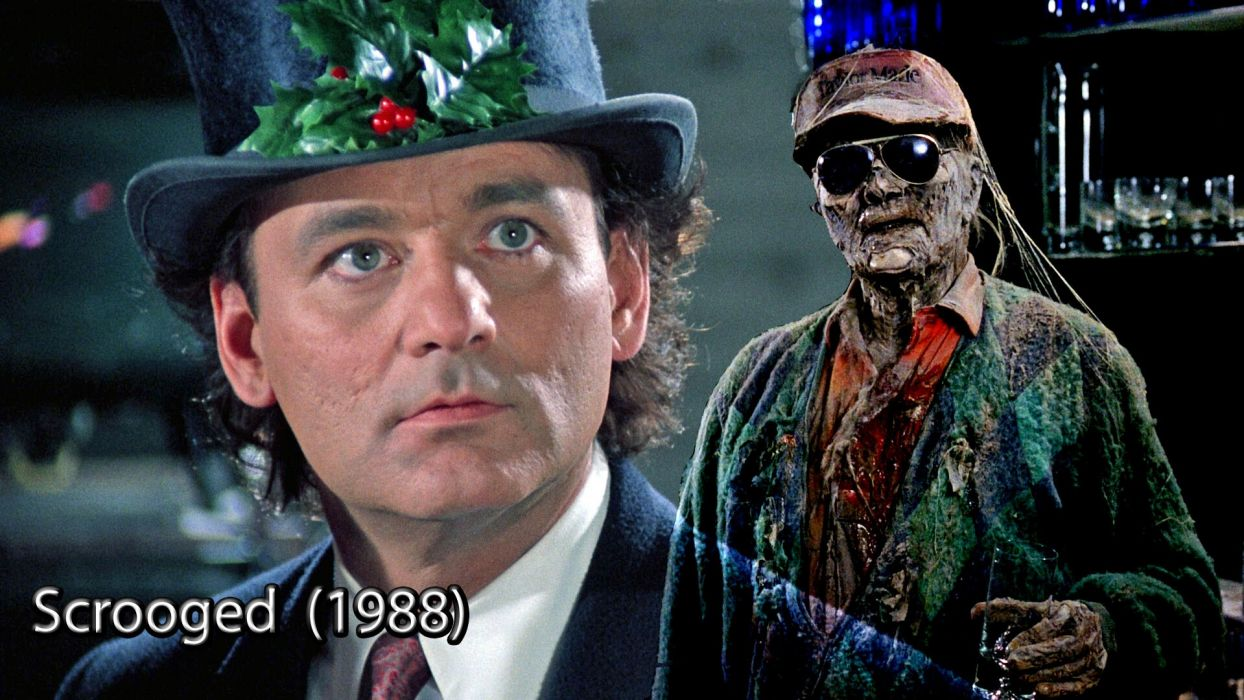 SCROOGED comedy christmas zombie dark poster     f wallpaper