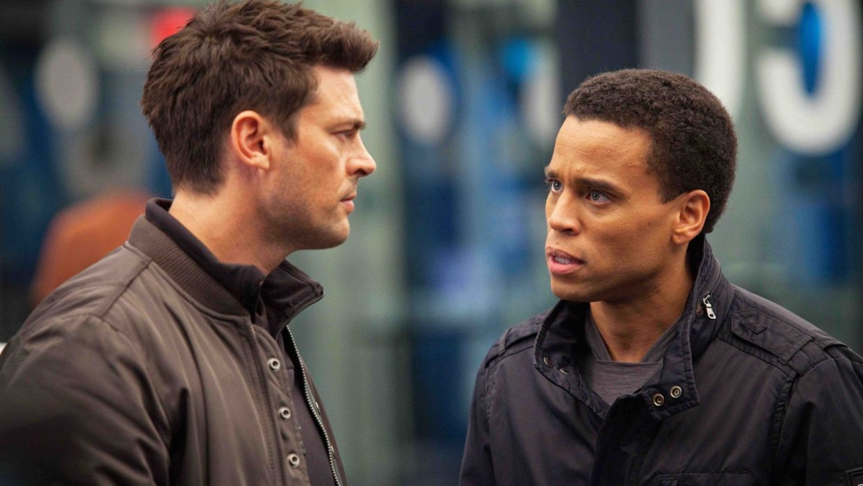 ALMOST HUMAN sci-fi action television   ff wallpaper