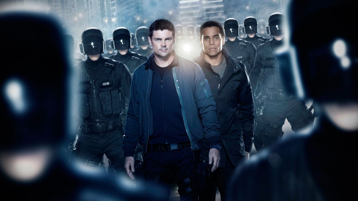 ALMOST HUMAN sci-fi action television   g wallpaper