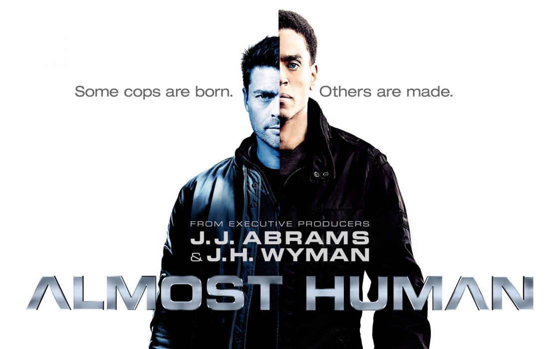 ALMOST HUMAN sci-fi action television poster       f wallpaper