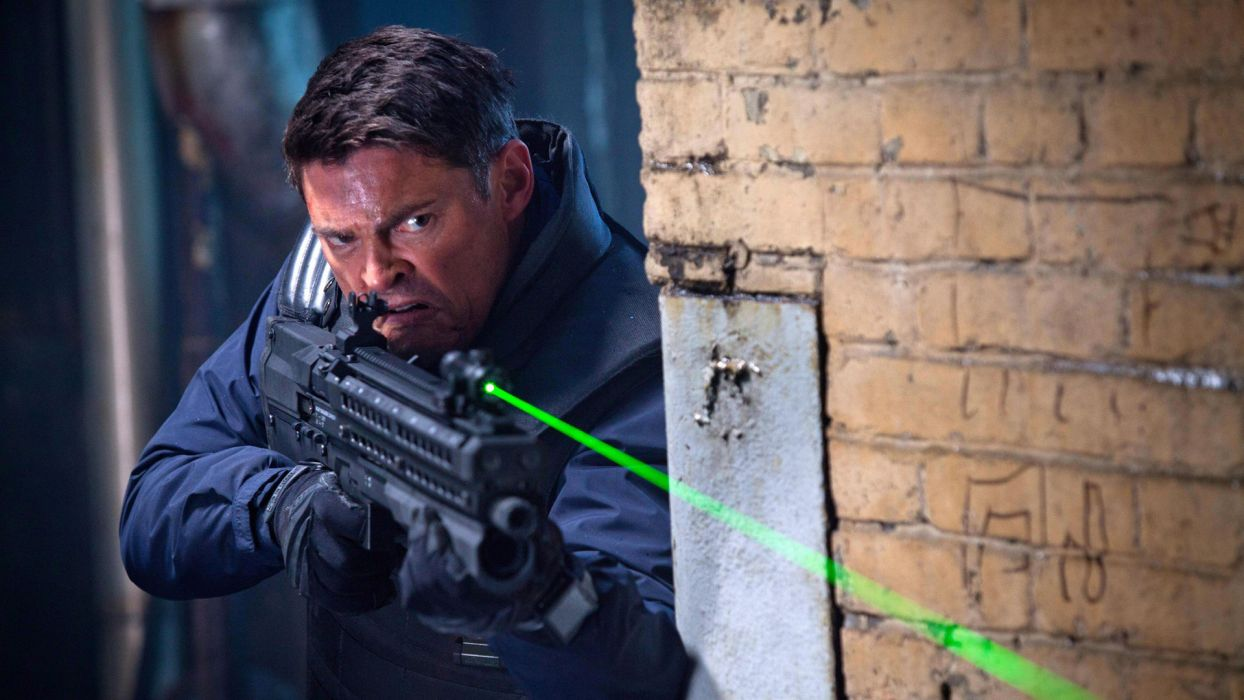 ALMOST HUMAN sci-fi action television warrior weapon gun police  f wallpaper
