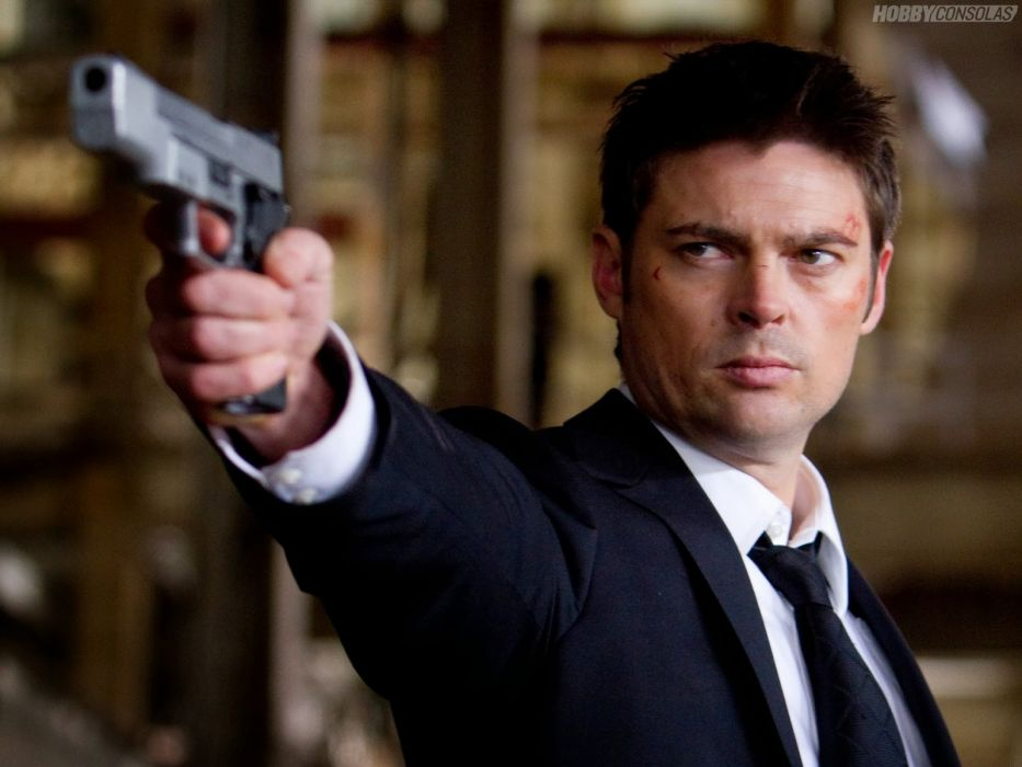 ALMOST HUMAN sci-fi action television weapon gun    s wallpaper
