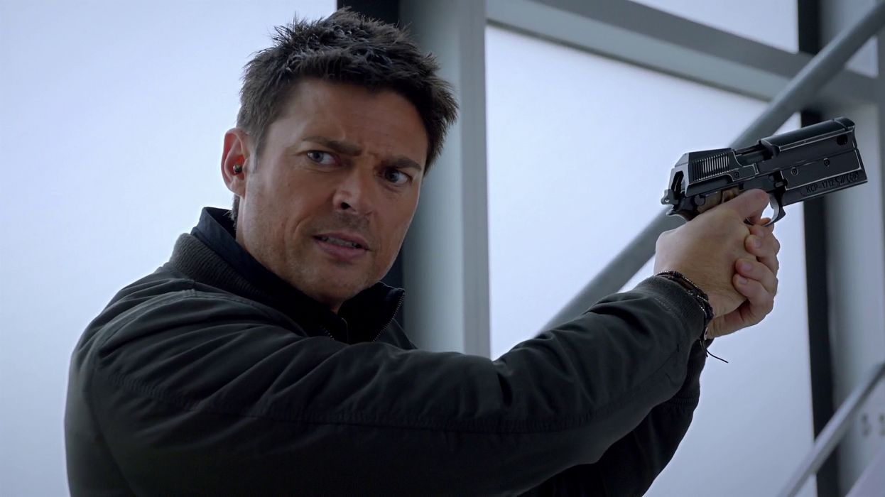 ALMOST HUMAN sci-fi action television weapon gun   f wallpaper