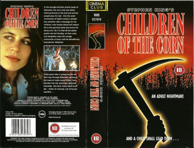 CHILDREN-OF-THE-CORN horror dark children corn poster gd wallpaper