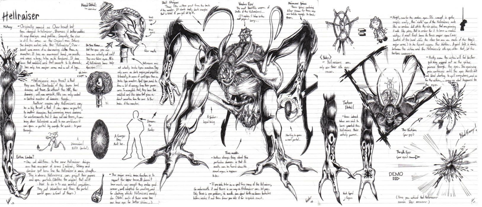 HELLRAISER horror dark demon  v wallpaper