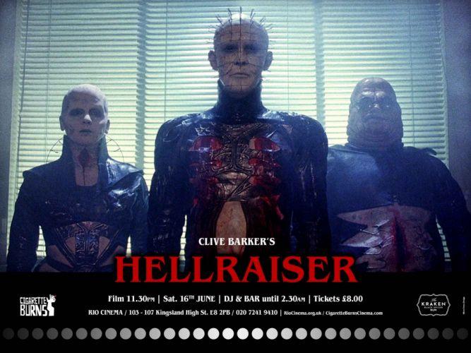 HELLRAISER horror dark poster f wallpaper