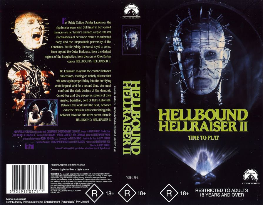 HELLRAISER horror dark poster   g wallpaper