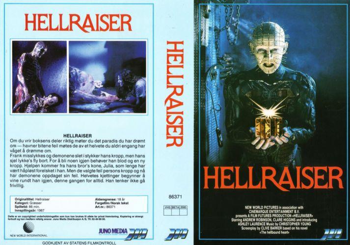 HELLRAISER horror dark poster h wallpaper