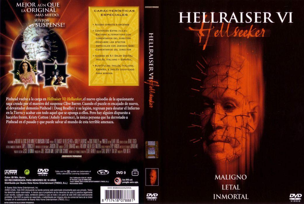 HELLRAISER horror dark poster   gf wallpaper