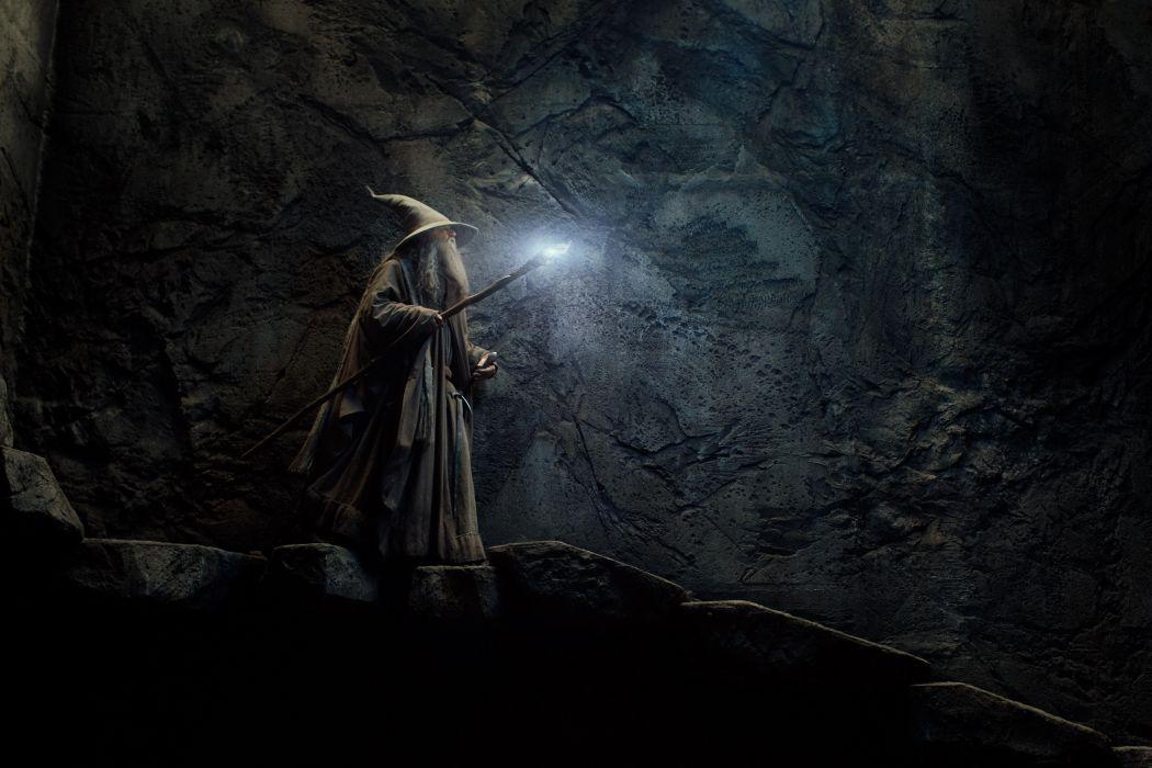HOBBIT THE DESOLATION OF SMAUG fantasy drama action wizard magic wallpaper