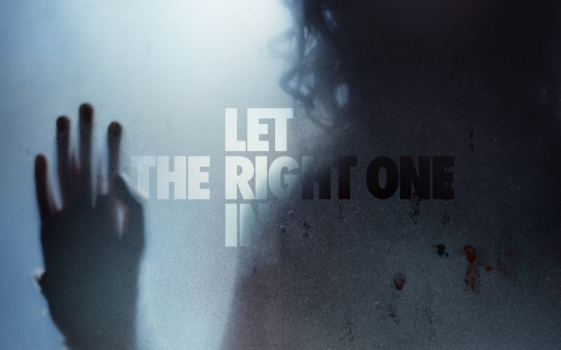 LET-THE-RIGHT-ONE-IN horror dark blood let right one poster g wallpaper