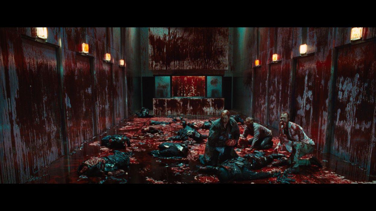 THE-CABIN-IN-THE-WOODS dark horror cabin woods blood zombie     f wallpaper