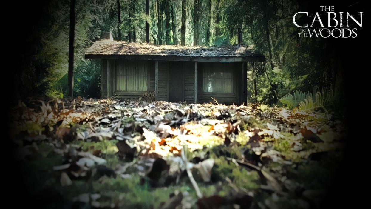 THE-CABIN-IN-THE-WOODS dark horror cabin woods poster        hc wallpaper