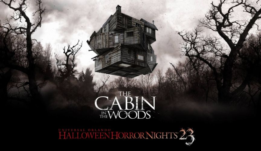 THE-CABIN-IN-THE-WOODS dark horror cabin woods poster gd wallpaper