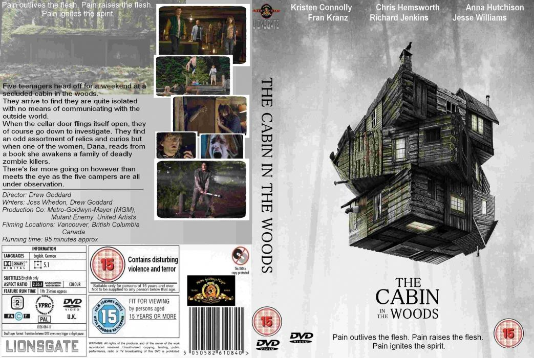 THE-CABIN-IN-THE-WOODS dark horror cabin woods poster   g wallpaper