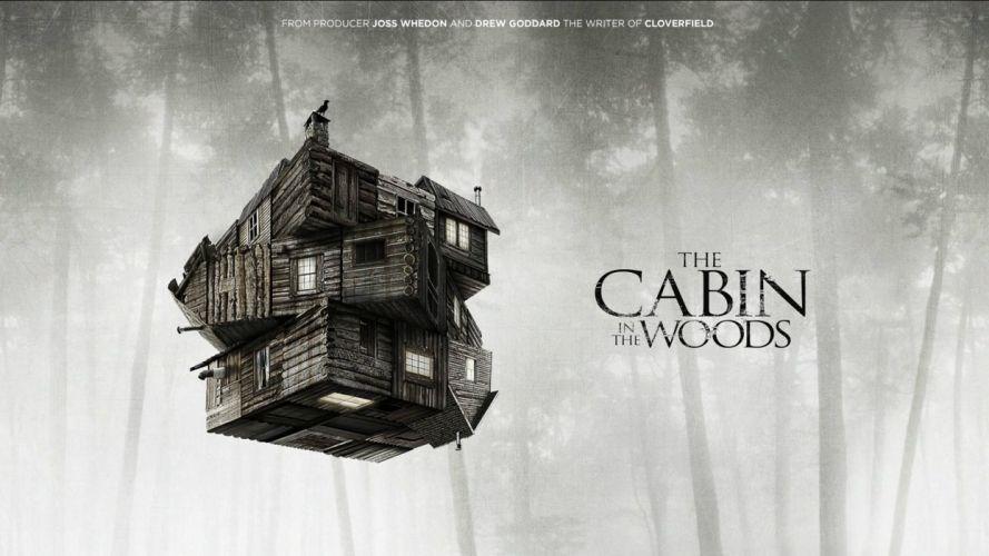 THE-CABIN-IN-THE-WOODS dark horror cabin woods poster g wallpaper