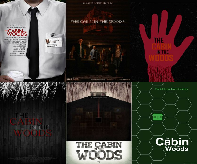 THE-CABIN-IN-THE-WOODS dark horror cabin woods poster   hn wallpaper