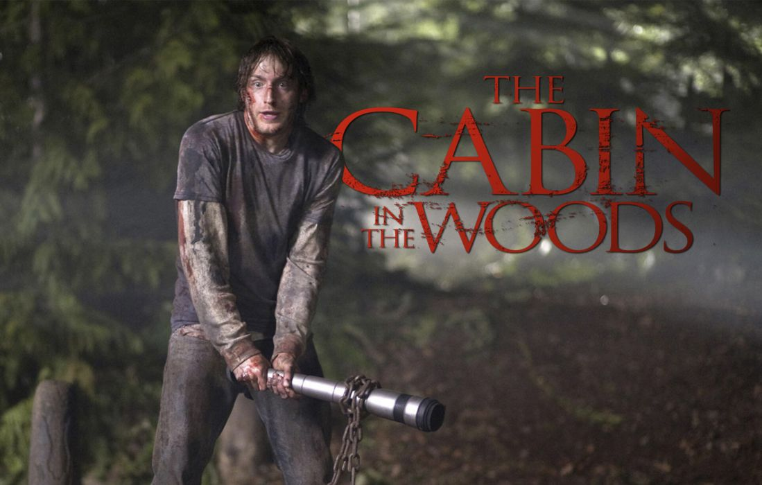 THE-CABIN-IN-THE-WOODS dark horror cabin woods poster  hd wallpaper