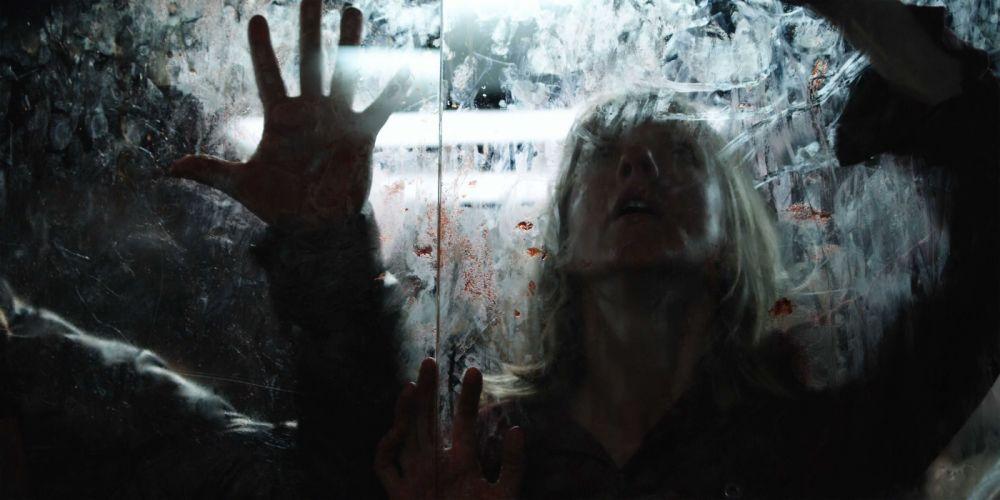 PONTYPOOL dark horror blood window glass g wallpaper
