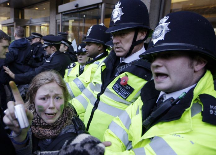 protest anarchy march crowd police hw wallpaper