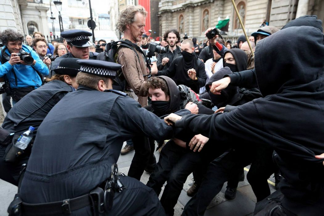 protest anarchy march crowd police battle  jg wallpaper