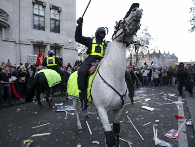 protest anarchy march crowd police horse g wallpaper