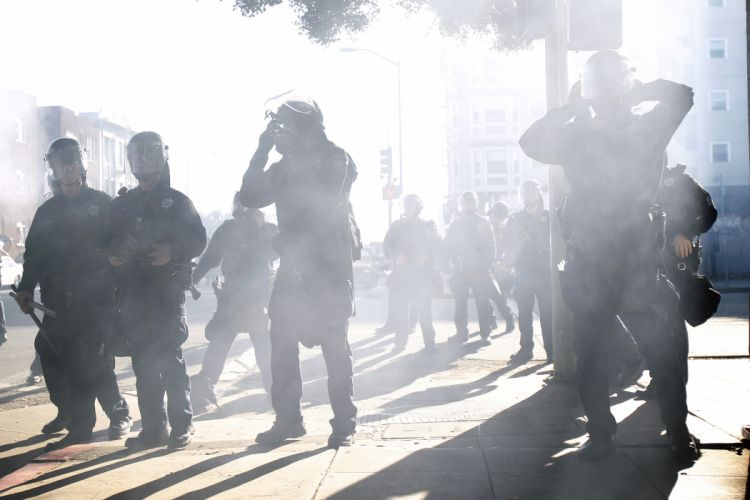 protest anarchy police smoke f wallpaper