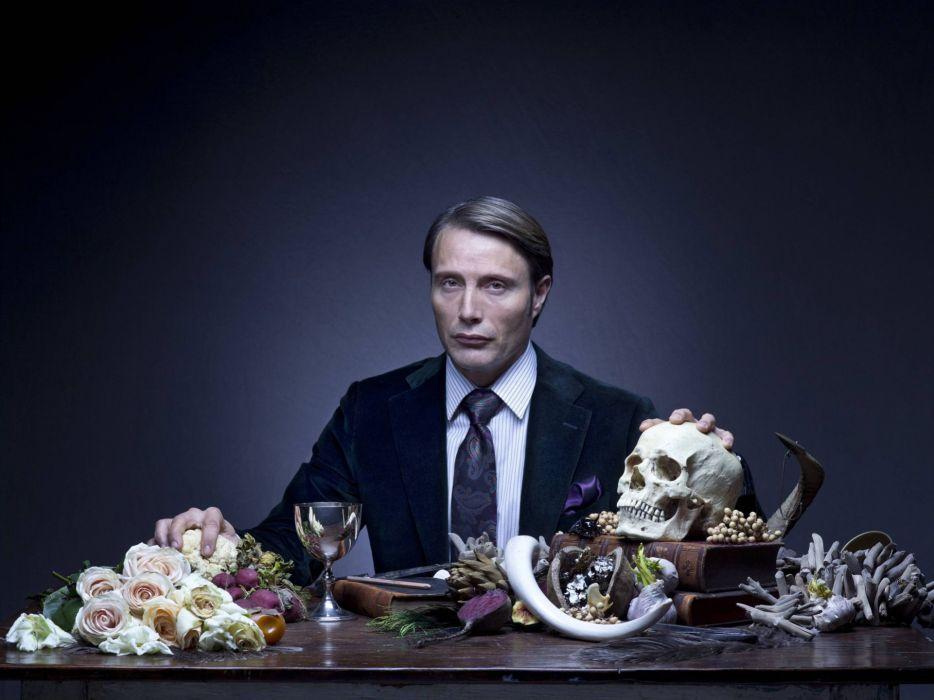 HANNIBAL drama horror television dark skull     r wallpaper